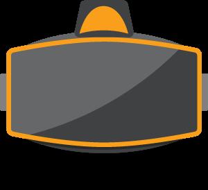 סמל ציוד מציאות מדומה ומציאות רבודה